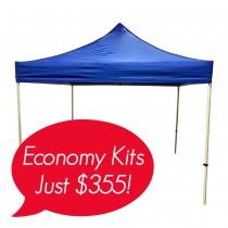 3x3 (10x10) Plain Economy Event Tent-20