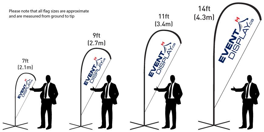 Teardrop Flag Sizes